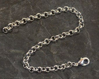 8 Inch Silver Plated Rolo Chain Necklace Extender
