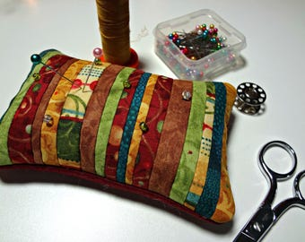 Pin Keep | Pincushion | Notion | Quilter| Seamstress | Sewing Accessory | Handmade | Mother's Day | Friend | Birthday | Gift | Bright Fabric