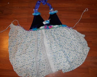 TRIPpY GURL HIppie Halter PHunky Top Festivals phunk Bonoroo One of a KIND one size fits all regular sizes xs to large
