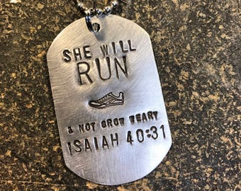 Priority SHIPPING Running Girl Necklace