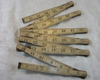 Vintage Eclispe Wood Folding Ruler 4072 6 Feet
