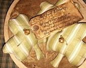 Primitive Cotton Print St Patrick's Day Shamrocks Set Of 3