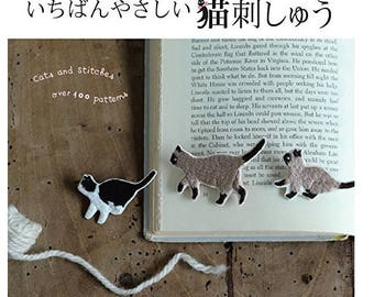 The Easiest  Cat Embroidery book-  Zakka Japanese Craft Book