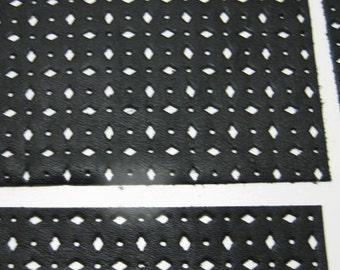 """Black Perforated Leather Piece 4"""" x 6"""" 4P2 in Black Climax (1 each)"""