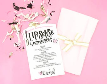 Lipsense Printable or Download for Lipstick Orders Packaging Instruction Card Personalized Download File