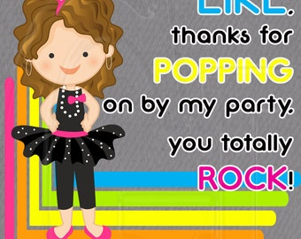 80's Party gift tag Pop Rocks - PRINTABLE Digital File  Instant Download