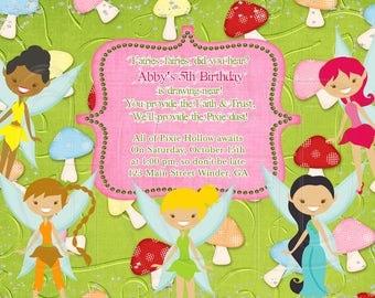 Tinkerbell Invitation fairies Inspired-Digital File
