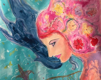 One of itskind art the mermaid