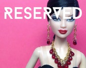 RESERVED listing for *dragoslava* - custom doll jewerly sets