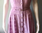 Gorgeous 1940's Lavender Cotton Summer Dress