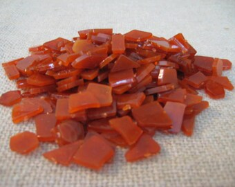 Acrylic Mosaic Pieces for Stepping Stones or Mosaic / DeStash Craft Supply / Rust/ Burnt Orange Acrylic Mosaic Pieces