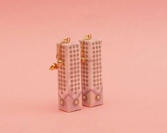 """SALE Geometric Earrings // Drop Earrings // Marble Earrings // Mod Earrings // Op Art Earrings //  The """" Mini Chandelier"""""""