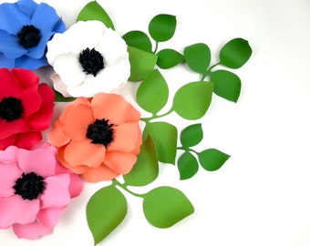 BOUQUET TO-GO  - Handmade Paper Flower  - The Oriental Poppy -   Set of 3