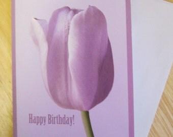 Spring Tulip Birthday Card