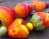 Vitamines - Handmade Lampwork Bead Set (15) by Anne Schelling, SRA