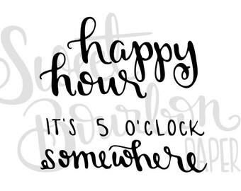 Happy Hour // Hand-Drawn Planner Stickers