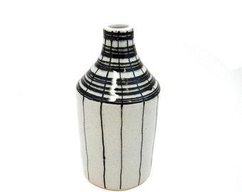 Ceramic Basket Bottle Vase