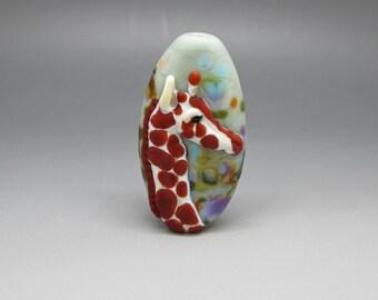 Giraffe - Lampwork Focal Bead