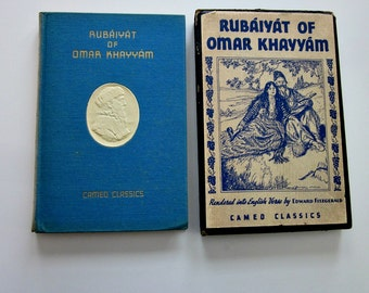 "Vintage Book"" Rubaiyat Of Omar Khayyam"" Cameo Classics Hard Cover In Slipcase, 1930's  - Collectible - Library - Boho Decor Book - Bobann23"