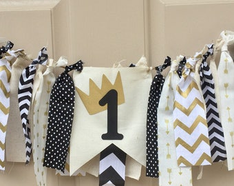 Where the Wild Things Are Wild One Highchair Banner Smash Cake Fabric  Wild One Fabric Strip Banner Smash Cake photo prop boys girls