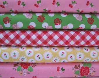 Sew Cherry Fabric Half Yard Bundle