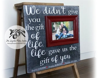 Adoption Gifts, Adoption Announcement, Adoption Art, Adoption Frame, We Didn't Give You Life, 16x16 Free Shipping, The Sugared Plums Frames