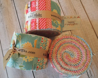 Wistful Winds Jelly Roll Rolie Polie by Riley Blake,  18, 2.5 inch strips, Bin G
