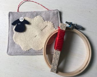 Sheep Embroidery Kit - Free Shipping