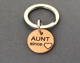 Aunt Stamped Penny - Gift for Her - Daughter Gift For - Stamped Penny - Son Gift For - New Aunt - Sister gift - Birthday