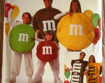 Childs and Adults M&Ms Candy Costume Sizes S M L Simplicity Pattern 0674 8290 9895 UNCUT