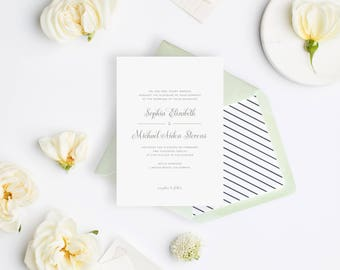 Wedding Invitation Sample - The August Suite