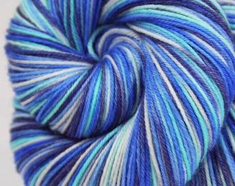 PILATUS: Superwash Merino - Fingering / Sock Weight Yarn - Hand dyed sock yarn - Variegated sock yarn - Blue sock yarn - Switzerland yarn