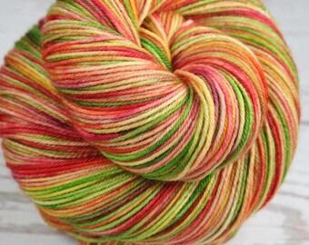 HAWAIIAN MACARONS: Superwash Merino Wool-Nylon - Fingering / Sock Weight Yarn - Hand dyed sock yarn - Indie dyed yarn - Variegated sock yarn