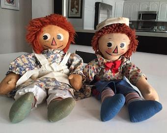 Raggedy Ann Doll/Mollye/Raggedy Ann Molly-es Raggedy Ann and Andy Doll/Rare Georgene Novelities/Johnny Gruelle Rag Doll/ c.1935  By Gatormom