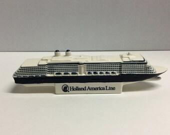 Holland American Line Sounvenir Ship Blue Deft
