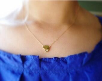 Sideways Heart Necklace-Diamond Heart Necklace-Gold Heart Necklace-Small Heart Necklace-Heart Charm Necklace-Heart Necklace Gold-Momentusny