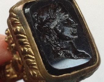 Sale Vintage Cameo Wax Stamp Fob Wax Seal Pendant