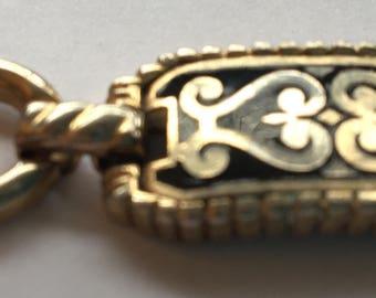 Vintage Barclay Black Enamel Link Bracelet