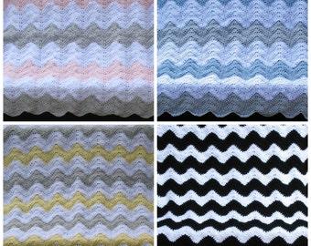 Chevron Baby Blanket, Choose Your Own Colors, Chevron Nursery Theme, Chevron Baby Shower Gift, Baby Gift, Gift for Baby, Chevron Decor