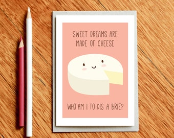 Cheese Card, Valentine's Day Card, Xmas Card, Birthday Card, Funny Christmas Card