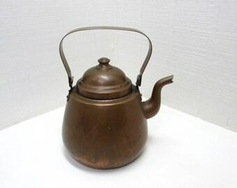 Vintage Copper Tea Kettle Made In Finland Copper 3 Liter Coffee / Tea Pot / Kettle Finnish