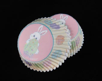 Easter Bunny Cupcake Liners, Easter Cupcake Liners, Spring Cupcake Liners, Muffin Papers, Baking Liners, Cupake Papers, Easter - Quantity 24