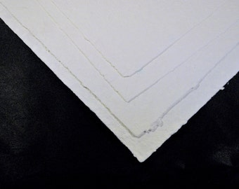 Six Hand Made Paper White Watercolor Papers for Painting PM-WC6-10 1/2 x 14