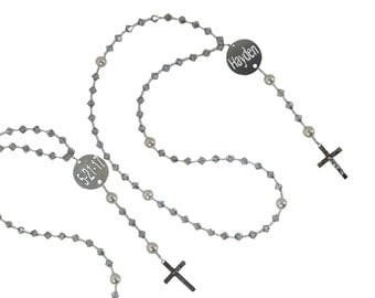 Design your own Name & Date Crystal Rosary