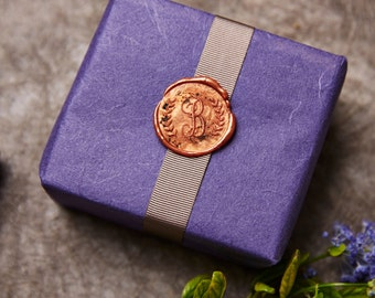 Monogram And Wreath Wax Seal Stamp