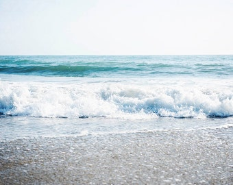 "Ocean Art, Seascape, Pacific Ocean, Nautical Wall Art, Wave Art, Beach, Photography, Ocean Decor, Nautical Decor ""Soothing Waves"""