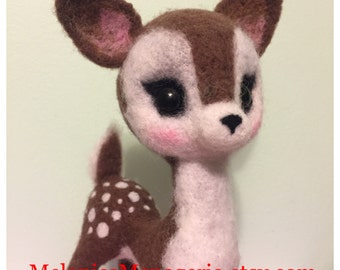Felted Deer 8.5 inch tall / Fine Art Collectible / VIntage Style / Nursery