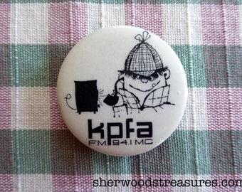 Sixties Original KPFA Berkeley Public Radio Hippie Button  Counterculture Exc
