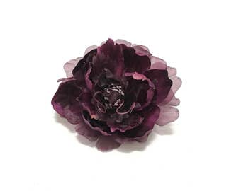 Large Purple Peony - 5 Inches - Artificial Flower, Silk Flowers, Wedding Flowers, Hair Accessories, Flower Crown, Millinery, Embellishment