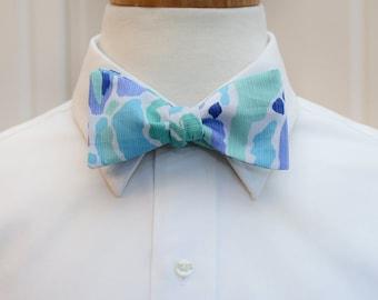 Men's Bow Tie, blue aqua Nice Ink, groomsmen gift, wedding party wear, aqua & blue bow tie,  groom bow tie, Lilly menswear, tuxedo accessory